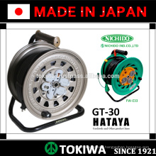HATAYA & NICHIDO manufactured cord reel with high adaptability to working environments (small retractable cable)