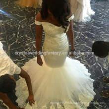 Vestidos De Novia Robe de mariée Perles de queue de poisson Perles de perles Appliques Robe de mariée sexy Mermaid CWFw2236