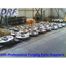 Ventes directes en usine de roues forgées en acier allié