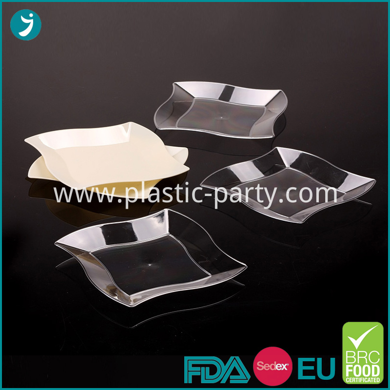 Crystal Plates Disposable Plastic