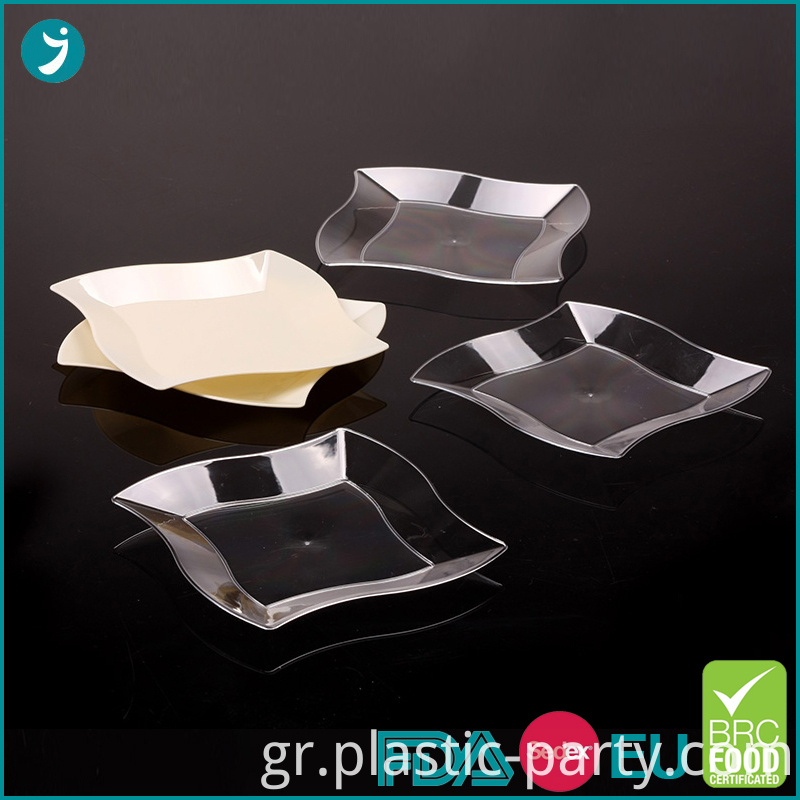 Plastic Party Wave Plate 7 Inch