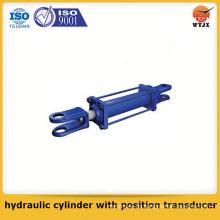 Cilindro hidráulico tipo pistón de calidad asegurada con transductor de posición