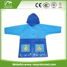 Kid Raincoat PVC com capuz