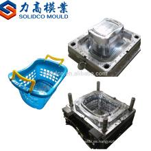 Nueva inyección de Taizhou con la manija plástica del molde de la cesta de fruta