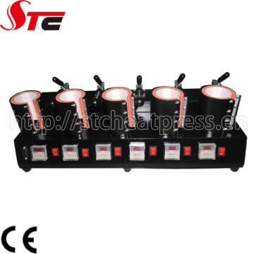Máquina de transferencia de calor manual de la taza 5in1