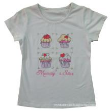 De Buena Calidad Camiseta impresa aduana de la torta de los niños (SGT-027)