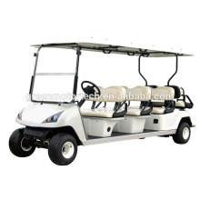 bon marché chariot de golf électrique de 6 places à vendre avec le certificat de la CE