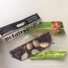 Kartoffelverpackung Transparenter Zwickel mit Reißverschluss