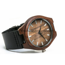 Custom Popular Leather Wooden Watches for Men Women