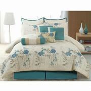 Comforter set with embroidery