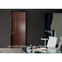 Puerta de madera de la oficina del chapado negro de la nuez del apartamento