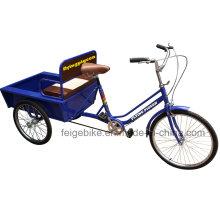 Populärer alter Mann, der Einkaufen-Dreirad benutzt (FP-TRCY030)