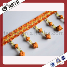 Fashion Acrylic Beaded FringeTrim for Curtain,Polyester Yarn Trimming of Curtain Accessories