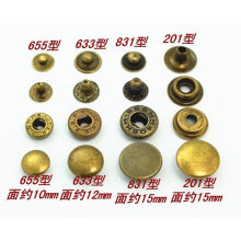 Metal brass snap button