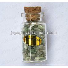 Green Aventurine chip Collection de pierres précieuses en bouteille