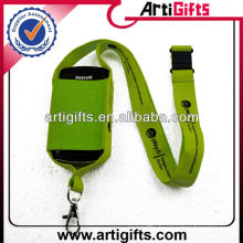 Wholesale polyester cellphone pouch lanyard