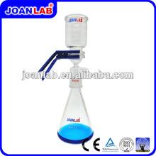 JOAN Aparato de filtración de vacío de vidrio de laboratorio con abrazadera de aluminio