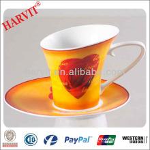 Té para un sistema Venta al por mayor / té de la tolerancia Ware / Love Heart Decal Drinkware Juegos del café y del té