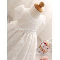 Newborn Baby Girl Dresses with Cap Super Back Bow Diamand Belt Baby Christening Gowns 1 year birthday dress
