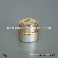 15g cream jar with the golden aluminium outside and golden aluminium cap