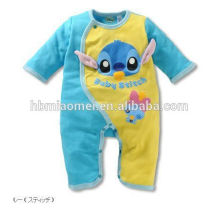 Custom made 100% coton doux bébé combinaison onesie unisexe mignon bébé animal barboteuse en gros