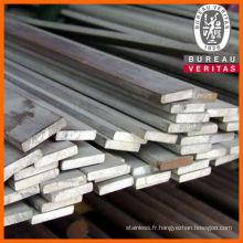 acier inox brillant 202 barre plate