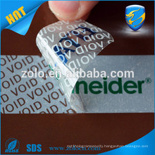 Custom printing warranty sticker void if tampered for mobile phone self adhesive Destructible Labels
