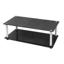 Double Layer Tempered Glass TV Stand