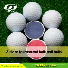 Pelota de golf de alta calidad para torneos 2/37/4 surlyn y pelotas de golf PU