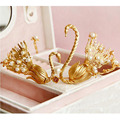 24k Gold Crown And Tiara Chinois traditionnel Couronne China Women Weeding Tiara