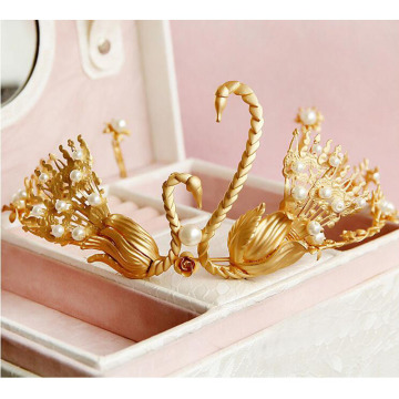 24k Gold Crown und Tiara Chinesische Traditionelle Krone China Frauen Weeding Tiara