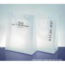 Custom Clear Plastic PP Printed Market/Store Shopping Tote Bag (OET-plastic bag(Y))