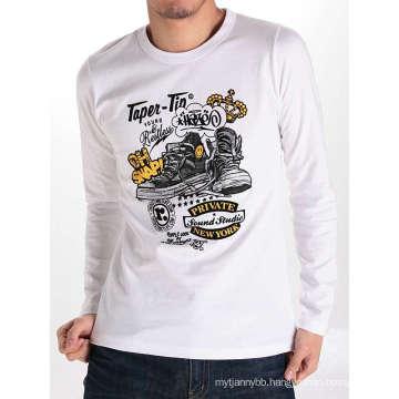 Cotton Fashion Top Quality Wholesale Custom Long Sleeve Men T Shirt