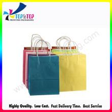 Tamanho médio de matérias-primas saco de papel com alça