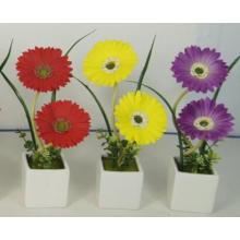 Werbegeschenk für LED-Kunstblumen mit Keramik-Topf