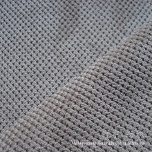 Cutted Pile Small Grid Polyester and Nylon Corduroy Fabric