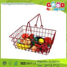 Juguetes de frutas de madera juguetes de cesta de fruta juguetes de conjunto de frutas