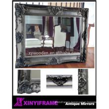 European Style Decorative Wood Large Mirror Bathroom Mirror