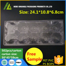 10 Holes Clear Plastic Eggs Blister Tray