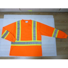 Reflective Safety T-Shirt with Long Sleeve