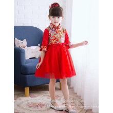 Vestido de novia de los niños dulce y elegante cordón de encaje en el hermoso vestido en el vestido de manga larga ED542