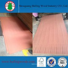 Contrachapado de chapa de madera Sapeli natural AA al mercado de Kenia