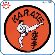 Round Shape Custom Karate Logo Embroidery Badge