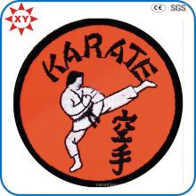 Круглая форма Пользовательские каратэ Логотип вышивка Знак