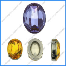 Rhinestone oval facetado para accesorios de cristal para zapatos y bolsos (DZ-3002)
