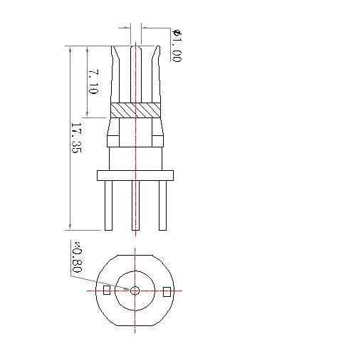 CP11F-12X 19 POWER PIN STRAIGHT FEMALE CONTACT 75Ω(work in coaxial)