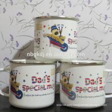 custom enamel mugs dog coated cups