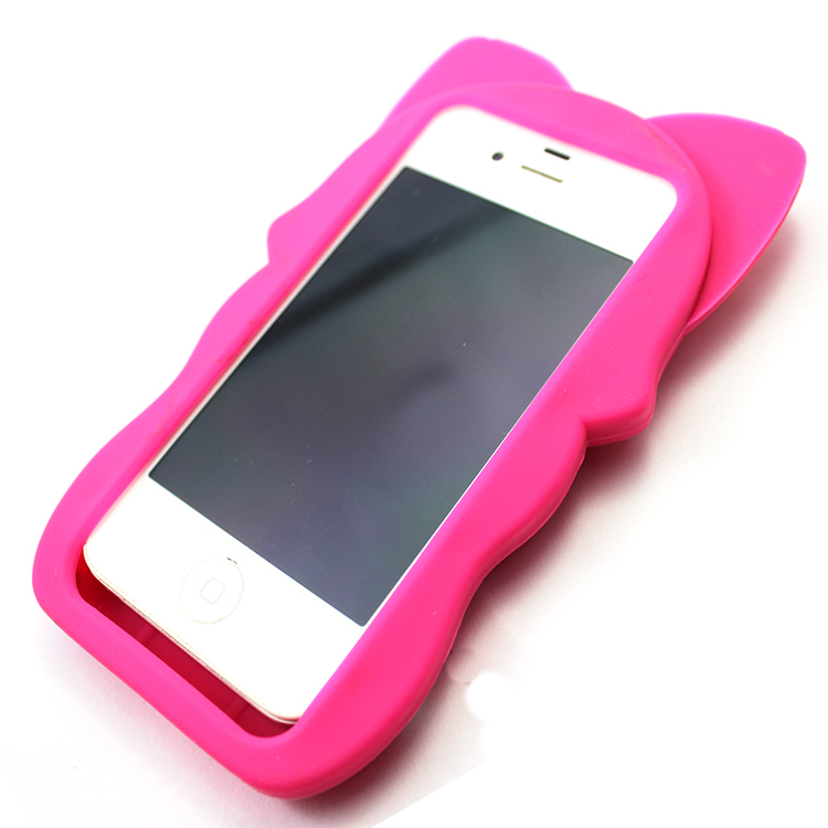 Lovely animal shape silicone iphone5s phone case for gifts