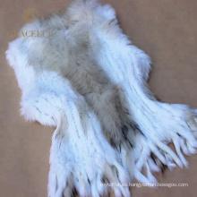 Traje de moda con chaleco de piel real