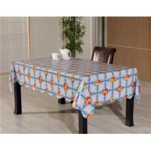 Toalha de mesa impressa colorida do PVC com projeto do vegetal e da fruta